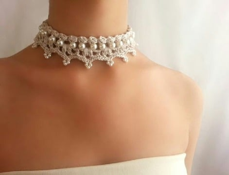 diseños de collares tejidos a crochet original