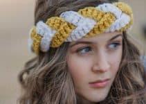 4 grosores y nudos en diademas a crochet para dama
