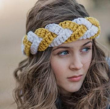 fotos de diademas a crochet para dama