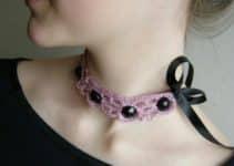 5 pasos para hacer collares tejidos a crochet original