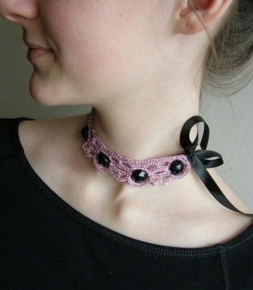 imagenes de collares tejidos a crochet original