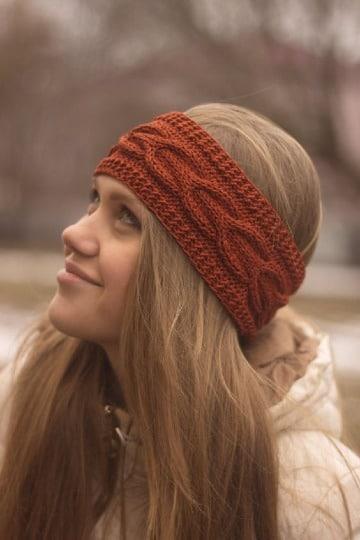 imagenes de diademas a crochet para dama