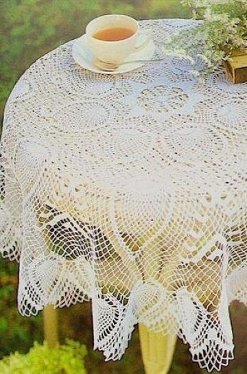 imagenes de manteles de mesa tejidos a crochet