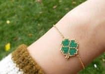5 ejemplos de pulseras tejidas con mostacillas