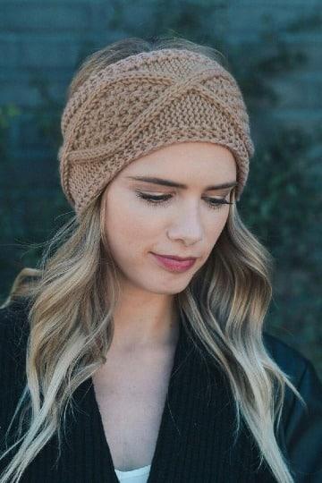 modelos de bandas para el cabello tejidas
