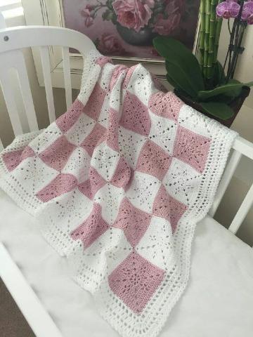 modelos de cobijitas de bebe tejidas a gancho