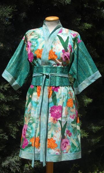 modelos de kimonos cortos japoneses