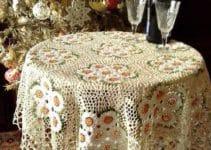 4 diseños de manteles de mesa tejidos a crochet