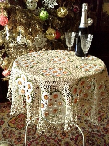 modelos de manteles de mesa tejidos a crochet