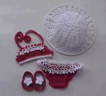 modelos de trajes de baños tejidos para bebes