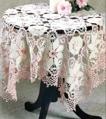 patrones de manteles de mesa tejidos a crochet