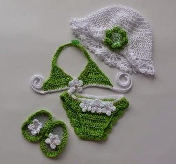 patrones de trajes de baños tejidos para bebes