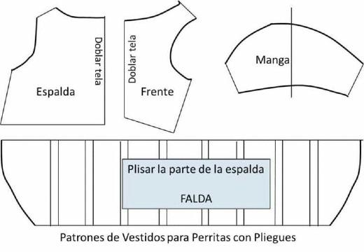 patrones de vestidos para perritas pequeñas