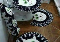 3 piezas de adornos tejidos a crochet para el baño
