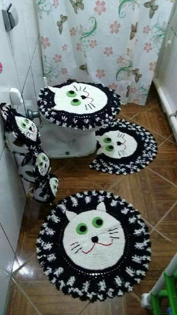 adornos tejidos a crochet para el baño paso a paso