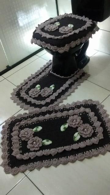 adornos tejidos a crochet para el baño patrones
