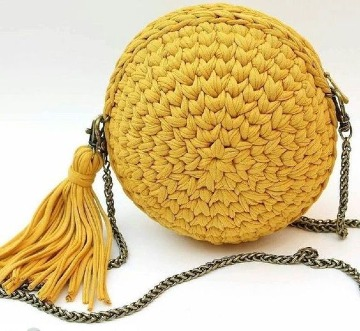 bolsos de trapillo a ganchillo modernos