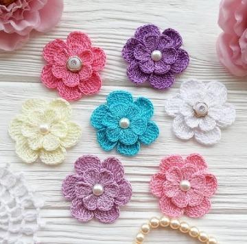 como hacer flores a ganchillo sencillas