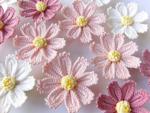 como hacer flores grandes a crochet