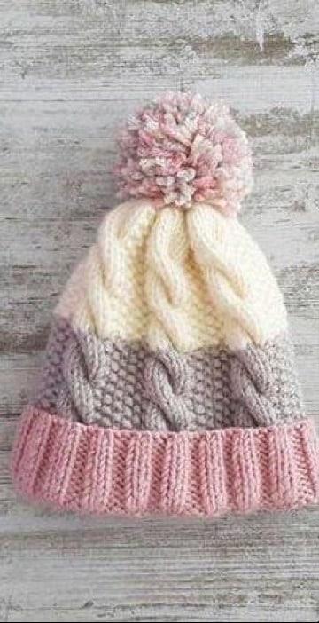 como hacer gorros de lana tejidos a palillos