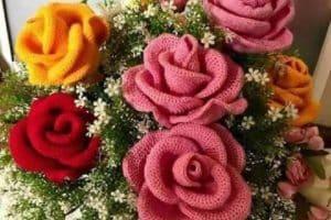Consejos sencillos de como hacer rosas tejidas en 3d
