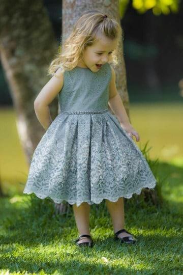 como hacer vestidos de niña de tres años