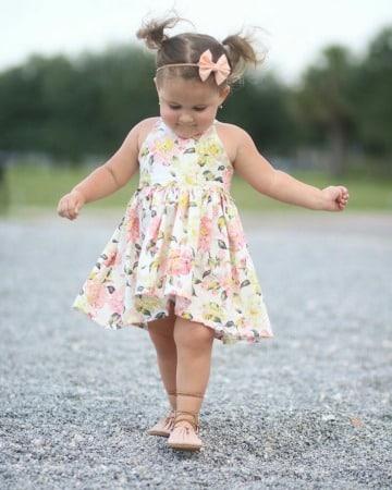 diseños de vestidos de niña de tres años