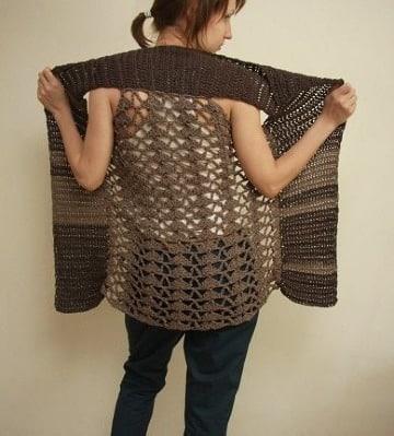 ejemplos de puntos a crochet para chalecos