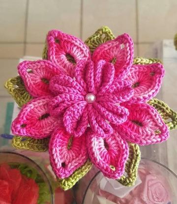 flores grandes a crochet patrones