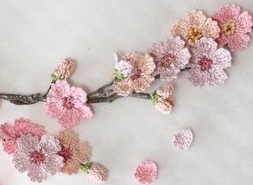 fotos de modelos de flores a crochet