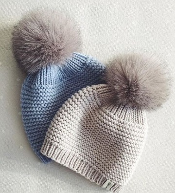 gorros de lana tejidos a palillos para mujer