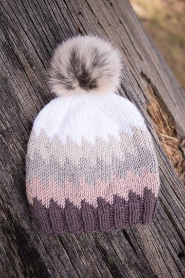 gorros de lana tejidos a palillos para niñas