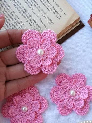 imagenes de como hacer flores a ganchillo