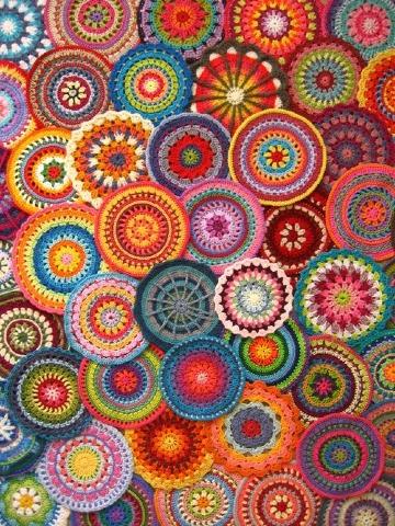 imagenes de mandalas a crochet paso a paso