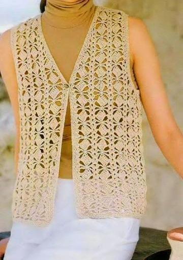 imagenes de puntos a crochet para chalecos