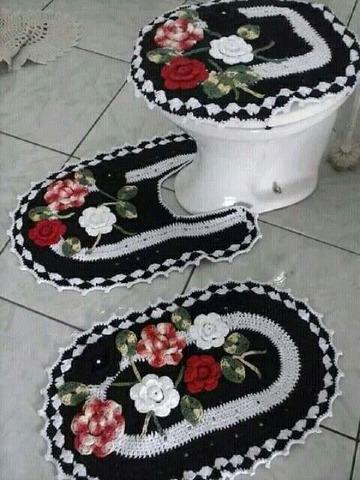 manualidades adornos tejidos a crochet para el baño