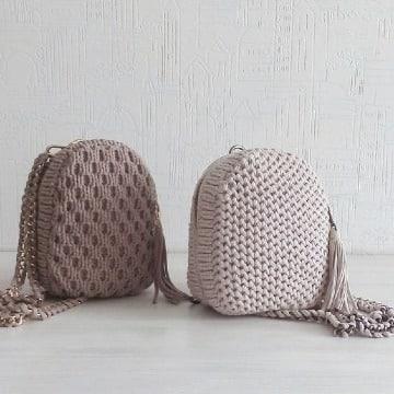 modelos de bolsos de trapillo a ganchillo