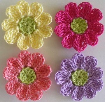 modelos de flores a crochet sencillas