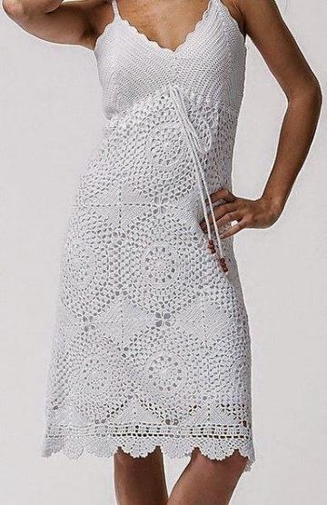 modelos de puntos a crochet para vestidos