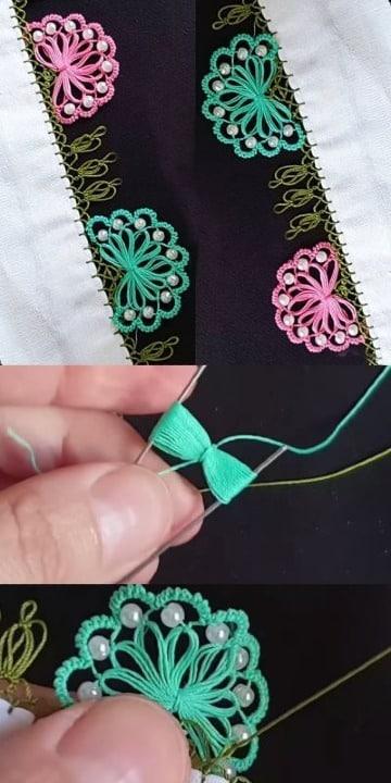 orillas de crochet para blusas paso a paso