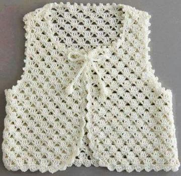 puntos a crochet para chalecos cortos