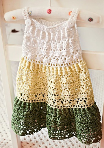 puntos a crochet para vestidos de bebes