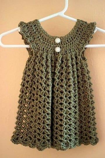 puntos a crochet para vestidos de niña