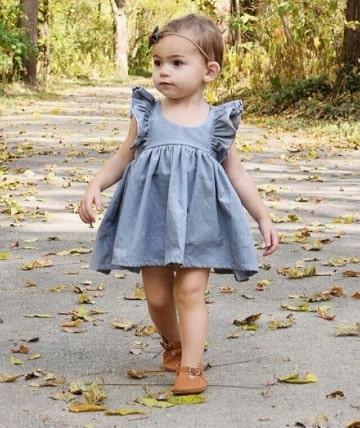 vestidos de niña de tres años sencillos
