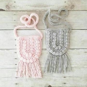 carteras tejidas a crochet para niña paso a paso