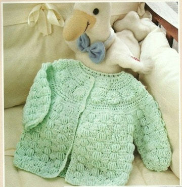 chambritas tejidas a crochet para bebe