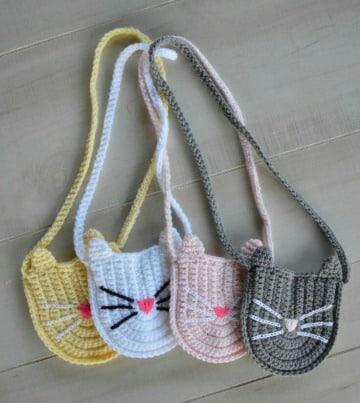 como hacer carteras tejidas a crochet para niña