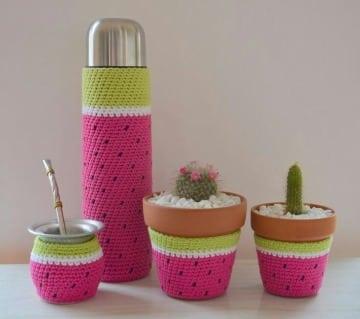 como hacer decoracion en crochet para el hogar