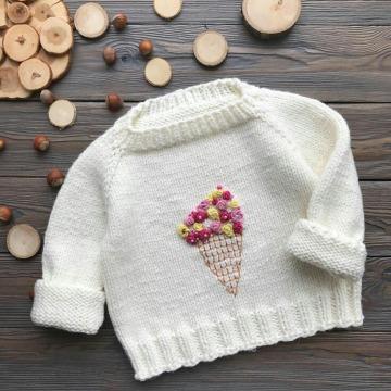 como hacer un sueter tejido para niña de 10 años