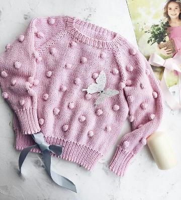 como hacer un sueter tejido para niña dos agujas